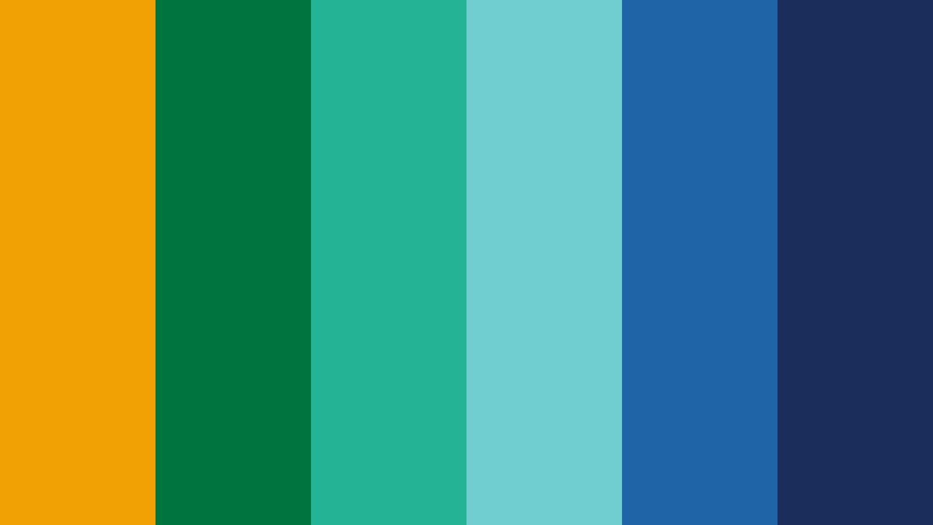 Variety Of Orange Green Blue Color Scheme Blue