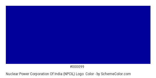 Nuclear Power Corporation of India (NPCIL) Logo - Color scheme palette thumbnail - #000099