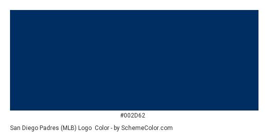 San Diego Padres (MLB) Logo - Color scheme palette thumbnail - #002d62