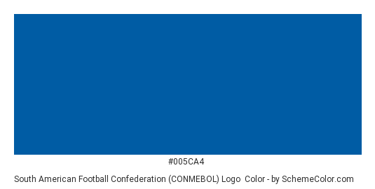 South American Football Confederation (CONMEBOL) Logo - Color scheme palette thumbnail - #005ca4