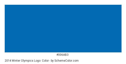 2014 Winter Olympics Logo - Color scheme palette thumbnail - #006ab3