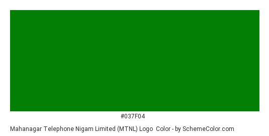 Mahanagar Telephone Nigam Limited (MTNL) Logo - Color scheme palette thumbnail - #037f04