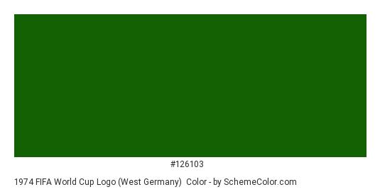 1974 FIFA World Cup Logo (West Germany) - Color scheme palette thumbnail - #126103