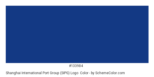 Shanghai International Port Group (SIPG) Logo - Color scheme palette thumbnail - #133984