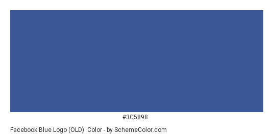 Facebook Blue Logo (OLD) - Color scheme palette thumbnail - #3c5898