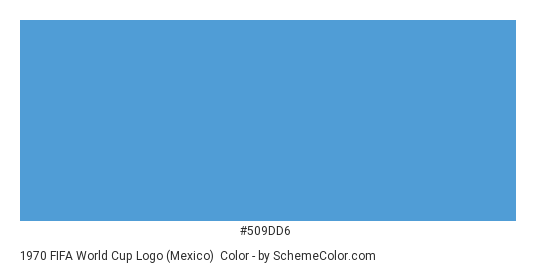 1970 FIFA World Cup Logo (Mexico) - Color scheme palette thumbnail - #509dd6