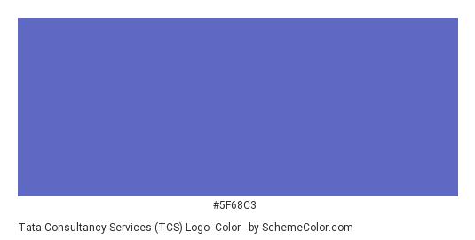 Tata Consultancy Services (TCS) Logo - Color scheme palette thumbnail - #5f68c3