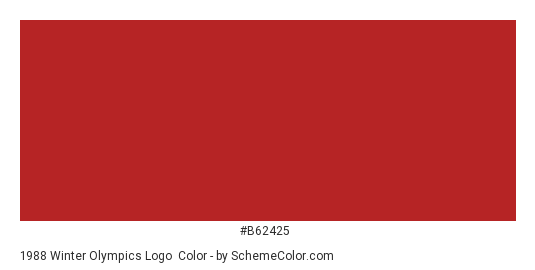 1988 Winter Olympics Logo - Color scheme palette thumbnail - #b62425