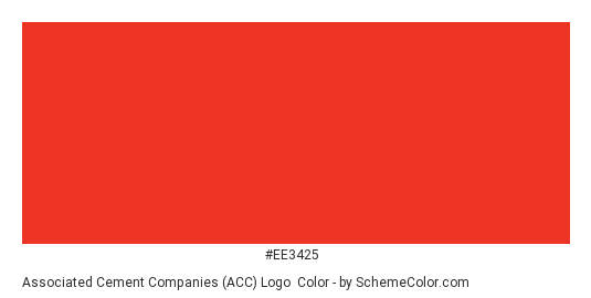Associated Cement Companies (ACC) Logo - Color scheme palette thumbnail - #ee3425
