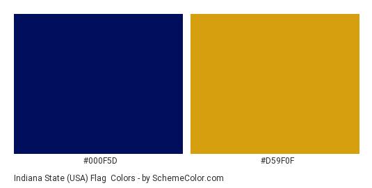 Indiana State Usa Flag Color Scheme Palette Thumbnail 000f5d D59f0f