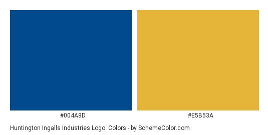 Huntington Ingalls Industries Logo - Color scheme palette thumbnail - #004a8d #e5b53a