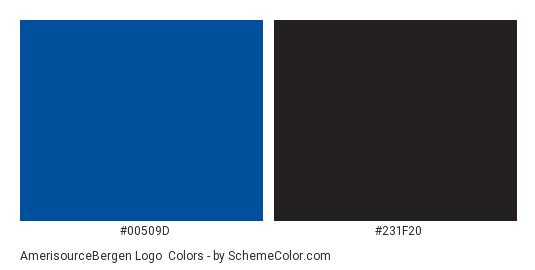 AmerisourceBergen Logo - Color scheme palette thumbnail - #00509d #231f20