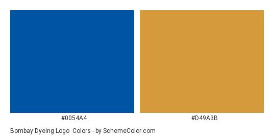 Bombay Dyeing Logo - Color scheme palette thumbnail - #0054a4 #d49a3b