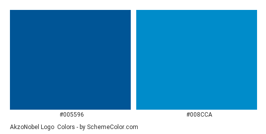 AkzoNobel Logo - Color scheme palette thumbnail - #005596 #008cca