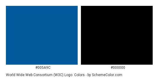 World Wide Web Consortium (W3C) Logo - Color scheme palette thumbnail - #005a9c #000000