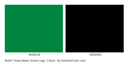 North Texas Mean Green Logo - Color scheme palette thumbnail - #00853e #000000