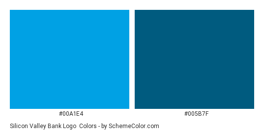 Silicon Valley Bank Logo - Color scheme palette thumbnail - #00a1e4 #005b7f