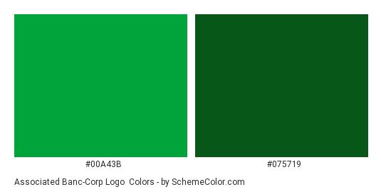 Associated Banc-Corp Logo - Color scheme palette thumbnail - #00a43b #075719