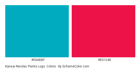 Kansai Nerolac Paints Logo - Color scheme palette thumbnail - #00abbf #ed1248
