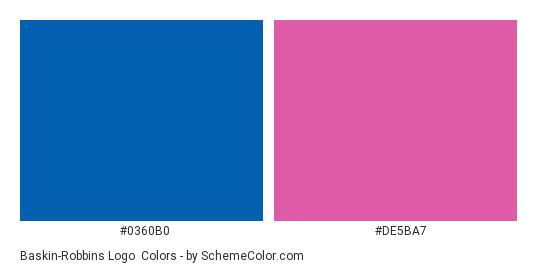 Baskin Robbins Logo Color Scheme Blue SchemeColor