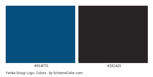 Yanke Group Logo - Color scheme palette thumbnail - #054f7d #282425
