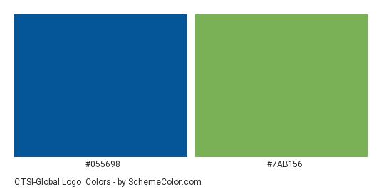 CTSI-Global Logo - Color scheme palette thumbnail - #055698 #7ab156