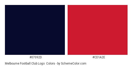 Melbourne Football Club Logo - Color scheme palette thumbnail - #07092d #cd1a2e
