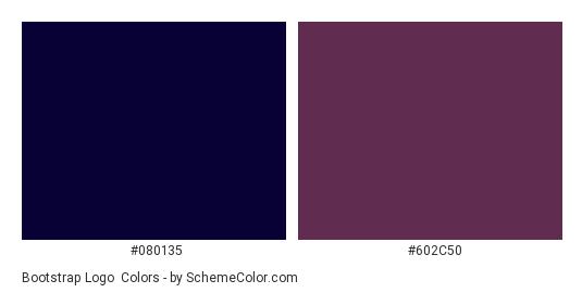 Bootstrap Logo - Color scheme palette thumbnail - #080135 #602c50