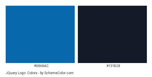 jQuery Logo - Color scheme palette thumbnail - #0868ac #131b28