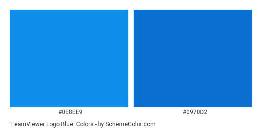 TeamViewer Logo Blue - Color scheme palette thumbnail - #0e8ee9 #0970d2
