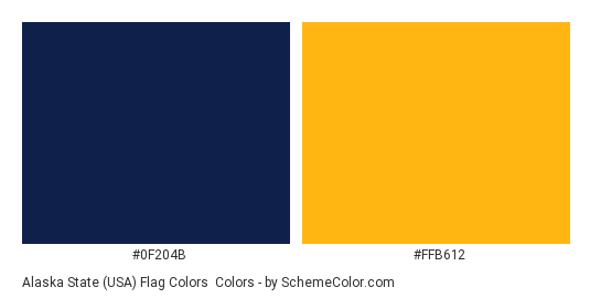 Alaska State (USA) Flag Colors - Color scheme palette thumbnail - #0f204b #ffb612