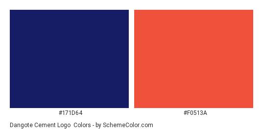 Dangote Cement Logo - Color scheme palette thumbnail - #171d64 #f0513a
