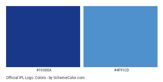 Official IPL Logo Color Scheme » Sports Team » SchemeColor com