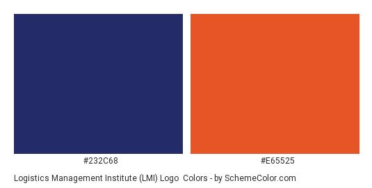 Logistics Management Institute (LMI) logo - Color scheme palette thumbnail - #232c68 #e65525