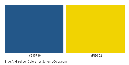 Blue And Yellow Color Scheme Schemecolor