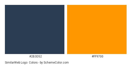 SimilarWeb Logo - Color scheme palette thumbnail - #2b3d52 #ff9700