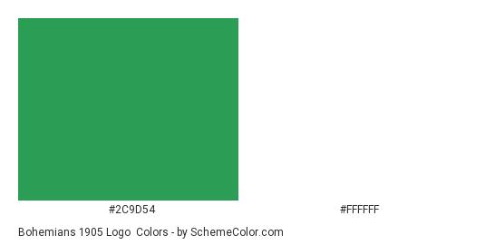 Bohemians 1905 Logo - Color scheme palette thumbnail - #2c9d54 #ffffff