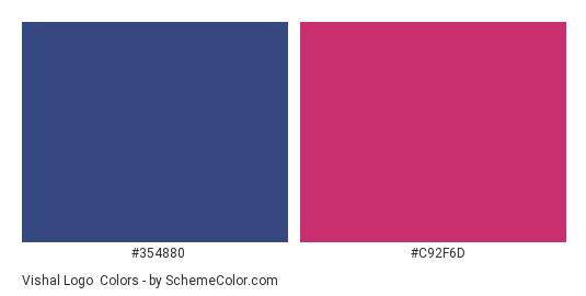 Vishal Logo - Color scheme palette thumbnail - #354880 #c92f6d
