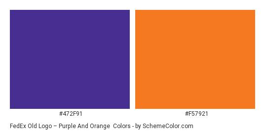 FedEx Old Logo – Purple and Orange - Color scheme palette thumbnail - #472f91 #f57921