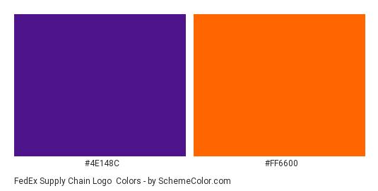 FedEx Supply Chain Logo - Color scheme palette thumbnail - #4e148c #ff6600