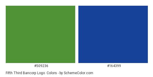 Fifth Third Bancorp Logo - Color scheme palette thumbnail - #509236 #164399