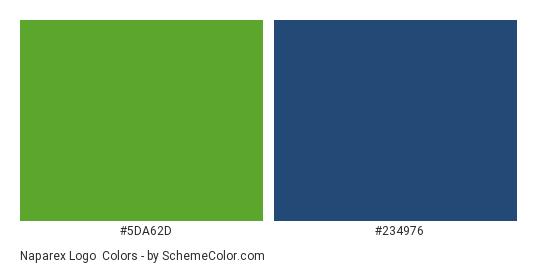 Naparex Logo - Color scheme palette thumbnail - #5da62d #234976