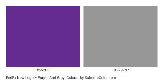 FedEx New Logo – Purple and Gray - Color scheme palette thumbnail - #652c8f #979797