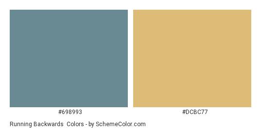 Running Backwards - Color scheme palette thumbnail - #698993 #dcbc77