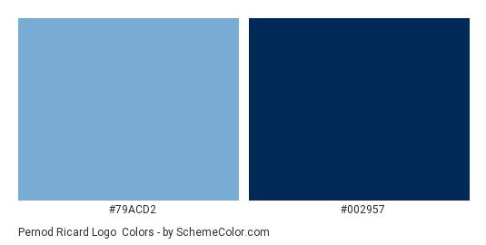 Pernod Ricard Logo - Color scheme palette thumbnail - #79acd2 #002957