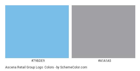 Ascena Retail Group Logo - Color scheme palette thumbnail - #79bde9 #a1a1a5