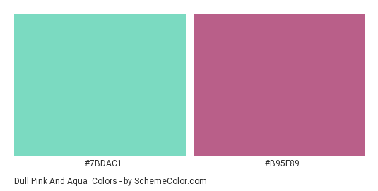 Dull Pink and Aqua - Color scheme palette thumbnail - #7BDAC1 #B95F89