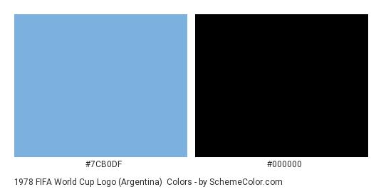1978 FIFA World Cup Logo (Argentina) - Color scheme palette thumbnail - #7cb0df #000000