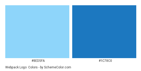 Webpack Logo - Color scheme palette thumbnail - #8ed5fa #1c78c0