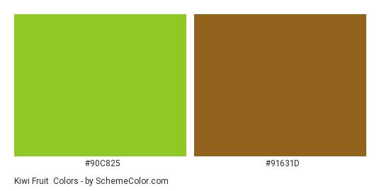 Kiwi Fruit - Color scheme palette thumbnail - #90c825 #91631d